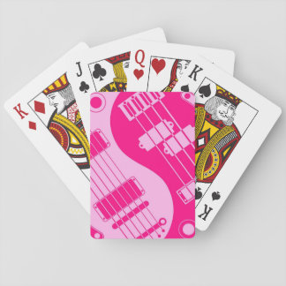 Pink Guitar and Bass Yin Yang Poker Cards