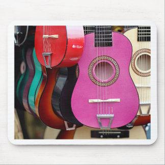 Pink Guitar Mouse Pad