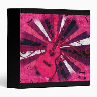 Pink Guitar, music binder