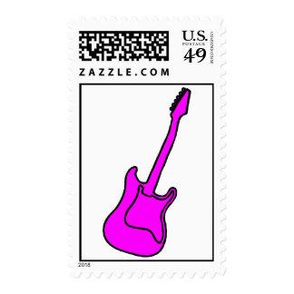Pink Guitar Stamps