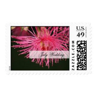 Pink gum tree Flower Wedding Stamps