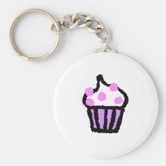 Pink Gumball Cupcake Keychain