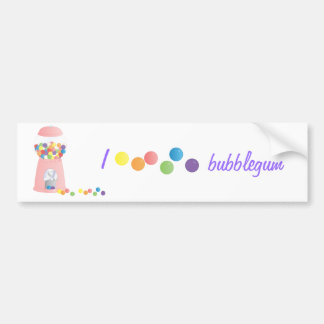 Pink Gumball Machine Bumper Sticker