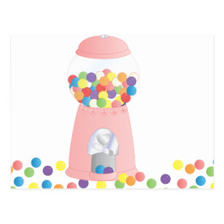 Pink Gumball Machine Postcards