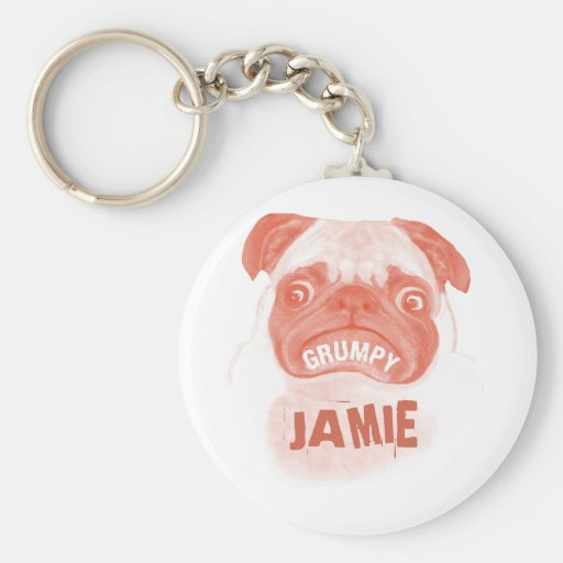 Pink Gumpy Puggy Key Chains