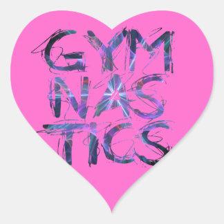Pink Gymanstics Custom Gifts Heart Sticker