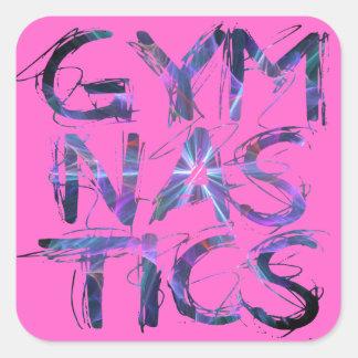 Pink Gymanstics Custom Gifts Square Sticker