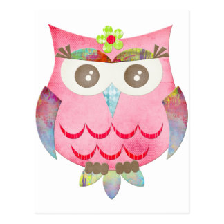 Pink Gypsy Owl Post Card