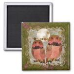 Pink Gypsy Owls Olive Magnet