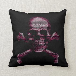Pink Hacker Skull And Crossbones Pillows