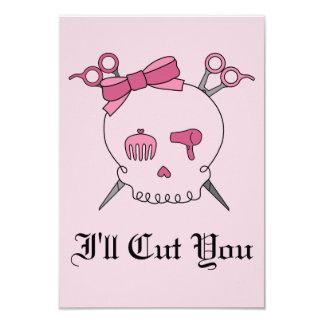 Pink Hair Accessory Skull - Scissor Crossbones #2 Card