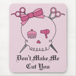 Pink Hair Accessory Skull - Scissor Crossbones #2 Mouse Pad