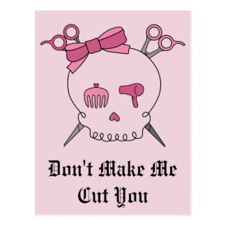 Pink Hair Accessory Skull - Scissor Crossbones #2 Postcard