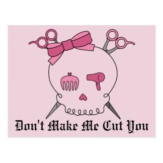 Pink Hair Accessory Skull - Scissor Crossbones 2 Post Cards