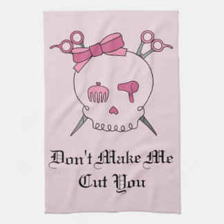 Pink Hair Accessory Skull - Scissor Crossbones #2 Towel