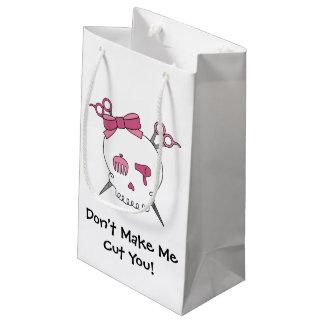 Pink Hair Accessory Skull -Scissor Crossbones #3 Small Gift Bag