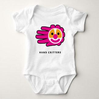 Pink Hair Clown Face Hand Baby Bodysuit