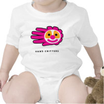 Hand shaped Pink Hair Clown Face Hand Rompers