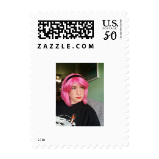 Pink hair postage