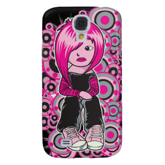 pink hair punk emo girl vector art samsung galaxy s4 cover
