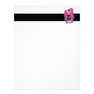 pink hair punk emo girl vector art personalized letterhead