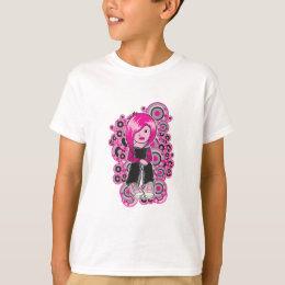 pink hair punk emo girl vector art T-Shirt