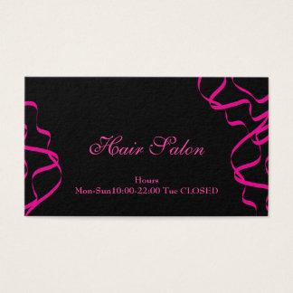 Pink Hair Salon Business Card