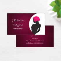 Pink Hair Salon businesscards Business Card