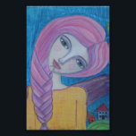"Pink Haired Angel, 4x6 print<br><div class=""desc"">artwork by Blueberry Blonde</div>"