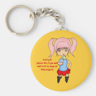 Pink Haired Chibi Key Chain