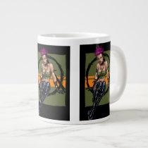 punk, alternative, anarchy, leather, boots, al rio, pink hair, purple hair, piercings, art, illustration, [[missing key: type_specialtymu]] with custom graphic design