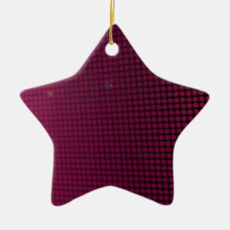 pink halation ceramic ornament