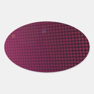 pink halation oval sticker