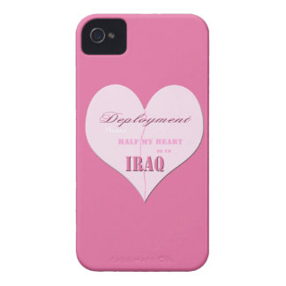 Pink Half Heart Deployment Iraq Blackberry Bold Ca iPhone 4 Case-Mate Cases