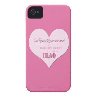 Pink Half Heart Deployment Iraq Blackberry Bold Ca iPhone 4 Case-Mate Cases