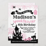 """Pink Halloween Birthday Invitation<br><div class=""""desc"""">Customize this cute """"Pink Halloween"""" Birthday invitation with your own details!</div>"""