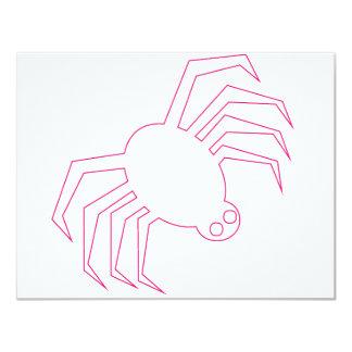 Pink Halloween Spider Card