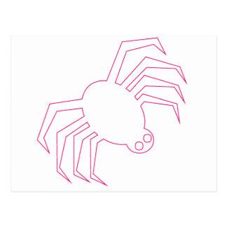 Pink Halloween Spider Postcard