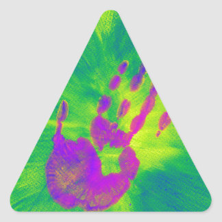 Pink Hand Triangle Sticker