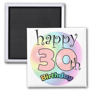 Pink Happy 30th Birthday Refrigerator Magnet