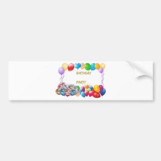 Pink Happy Birthday Balloons Bumper Sticker
