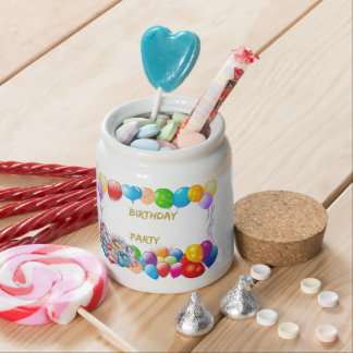 Pink Happy Birthday Balloons Candy Jar
