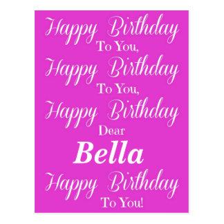 Pink Happy Birthday Postcard