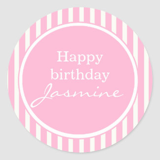 Pink Happy Birthday Sticker