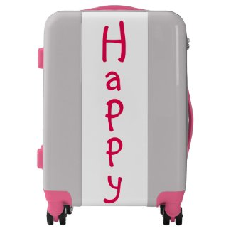 Cute Pink Happy Design Suitcase