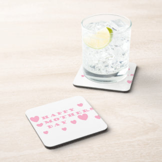 Pink Happy Mothers Day Beverage Coaster