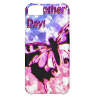 Pink Happy Mother's Day Design Case For iPhone 5C