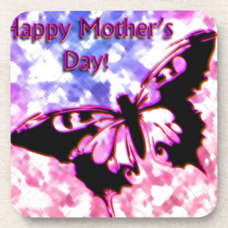 Pink Happy Mother's Day Design Coaster