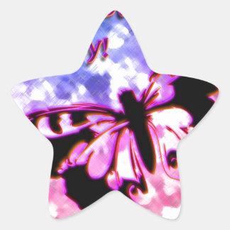 Pink Happy Mother's Day Design Star Sticker