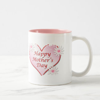 Pink Happy Mother's day Heart Mug